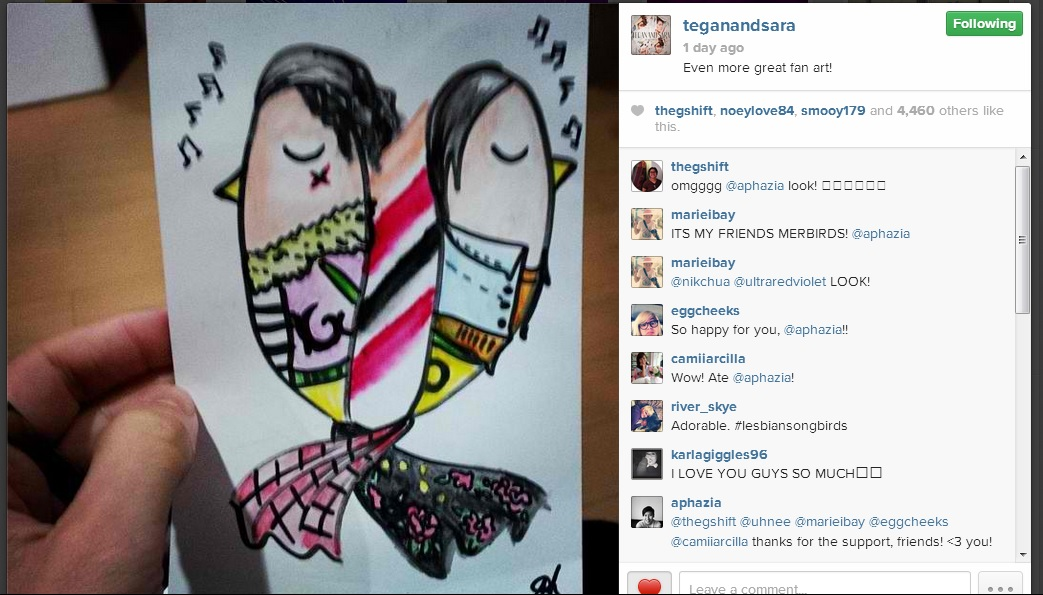 This was the HUGEST thing for Andrea. And I'm just here SPAZZING -- That's my girl's artwork! :) Way to go, love! :)